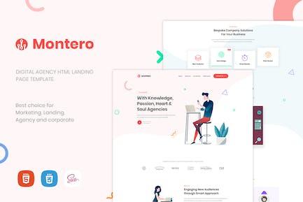 Montero | Einseitige Vorlage für Parallax HTML5