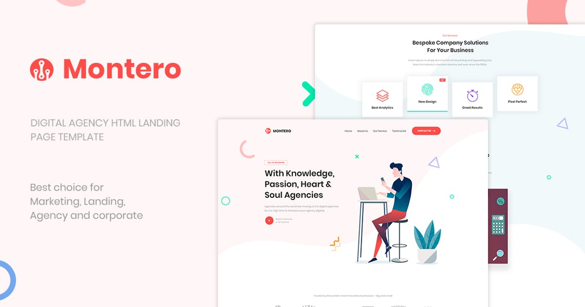 Download Montero | One Page Parallax HTML5 Template by htmlbeans