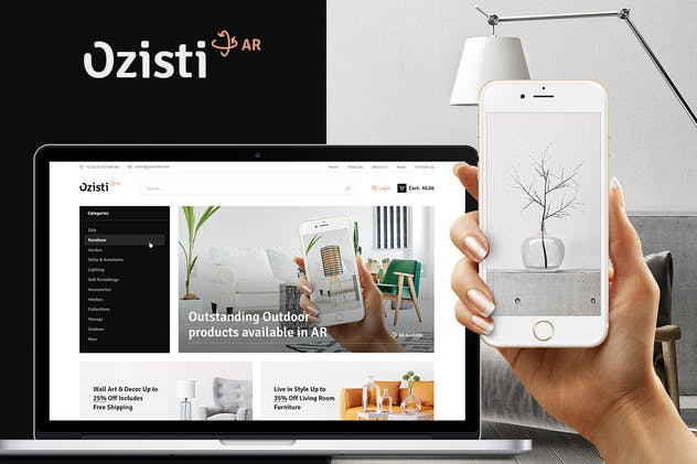 Ozisti | Augmented Reality WooCommerce Theme - product preview 0