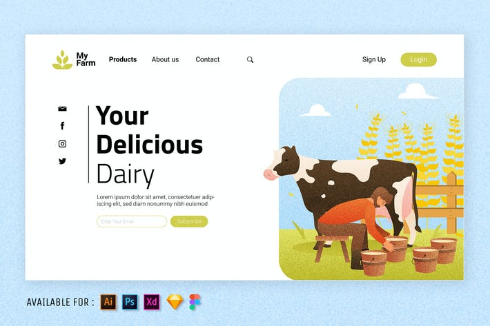 Thumbnail for Fresh Milk - Web Illustration