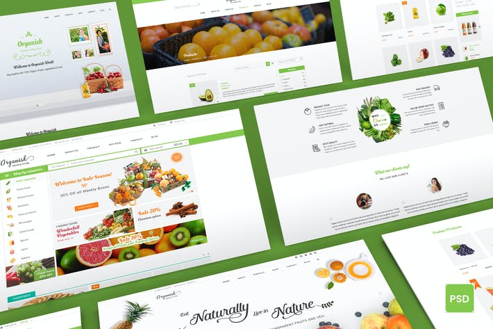 Thumbnail for Organisk - Multi-Purpose Organic PSD Template