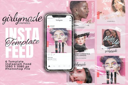 Girly Instagram Feed Post Template