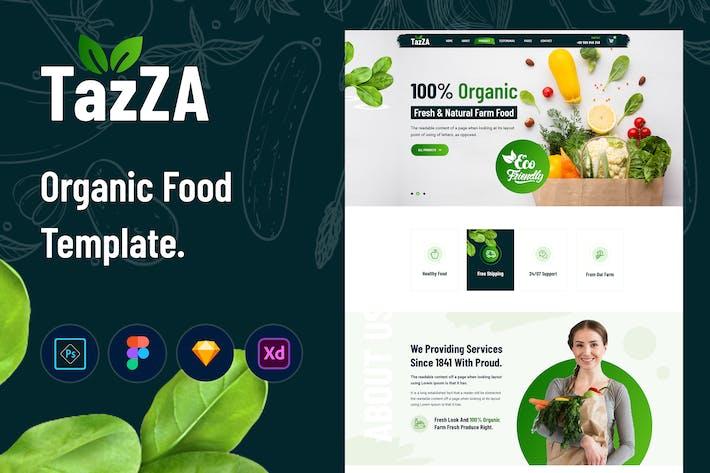 Thumbnail for TazZA - Organic Food Template