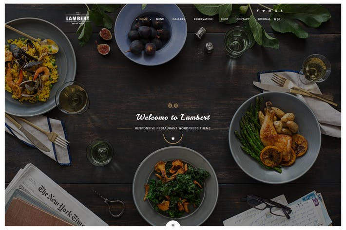 Thumbnail for Lambert - Restaurant / Cafe / Pub WordPress Theme