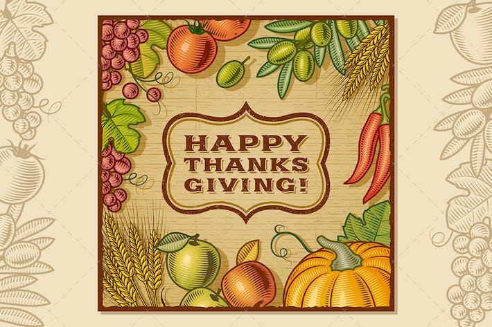 Thumbnail for Thanksgiving Retro Card