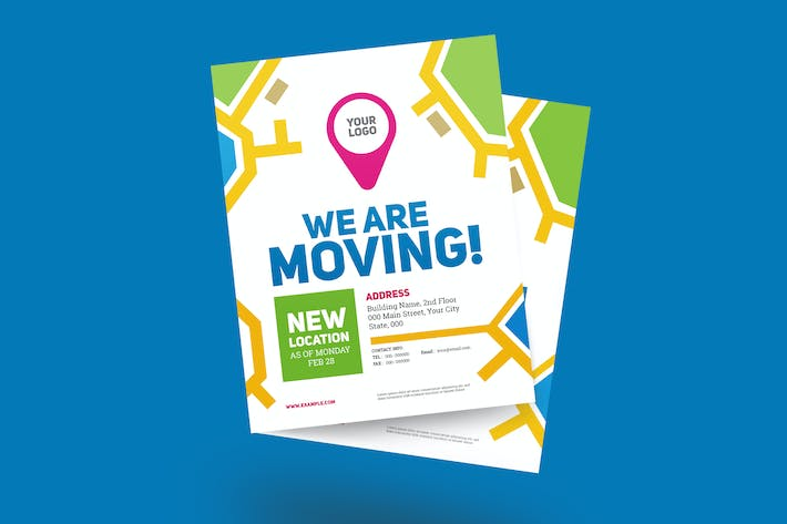 Thumbnail for We Are Moving Flyer