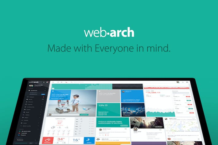 Cover Image For Webarch - Responsive Admin Dashboard Template