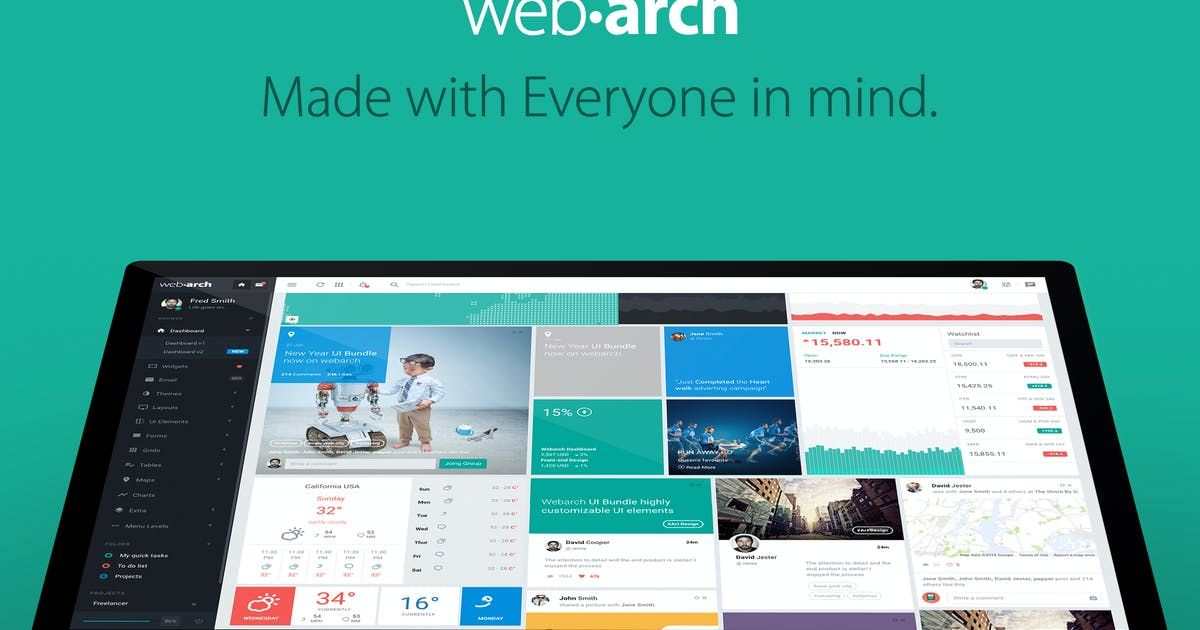 Download Webarch - Responsive Admin Dashboard Template by ace