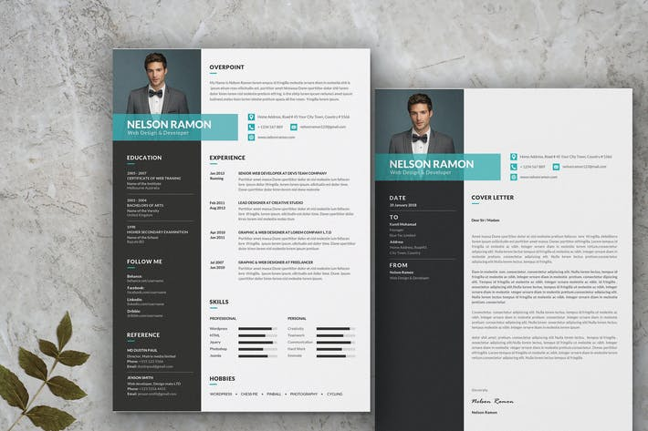 Thumbnail for Web Designer Development Resume CV Template