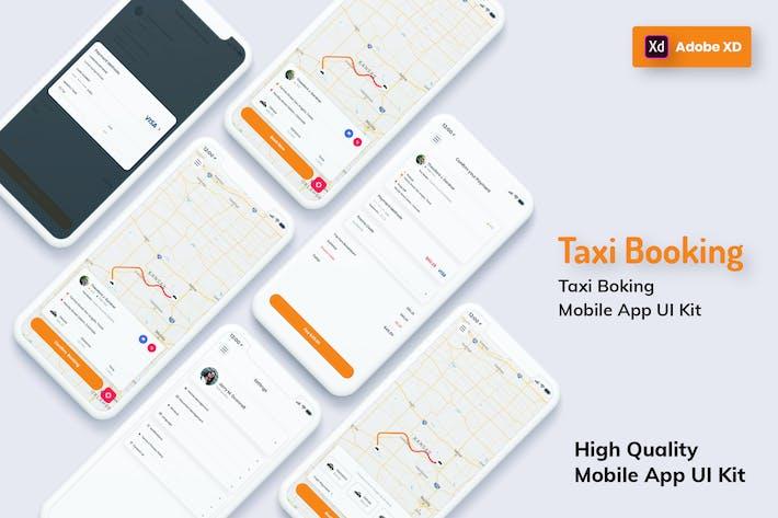 Thumbnail for Такси Бронирование Мобильное Приложение Легкая версия (XD)