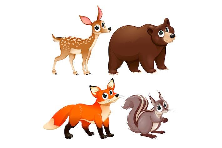 Lustige Tiere des Waldes