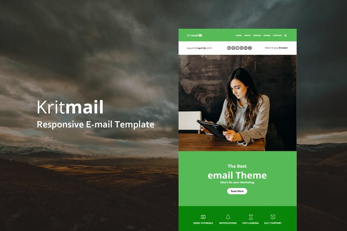 Thumbnail for Krit Mail - Responsive E-mail Template