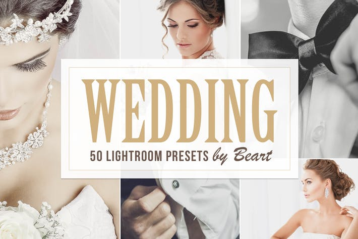 Cover Image For 50 Premium Wedding Lightroom Presets