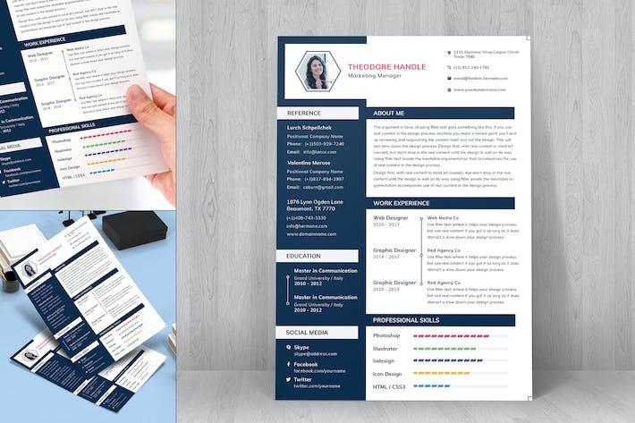 Thumbnail for Resume CV Template-29