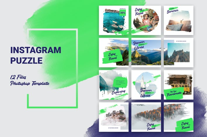 Thumbnail for Instagram Puzzle Travel