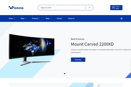 Ponno - Электроника электронной коммерции Shopify Тема + RTL