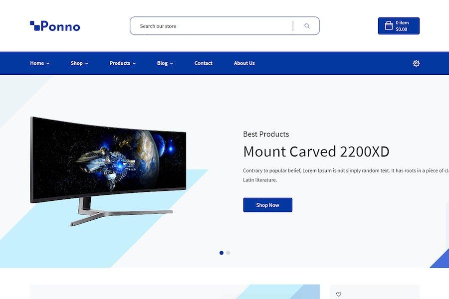 Ponno - Electronics eCommerce Shopify Theme + RTL