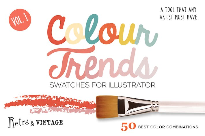 Thumbnail for Colour Trends Retro Swatches Vol.1