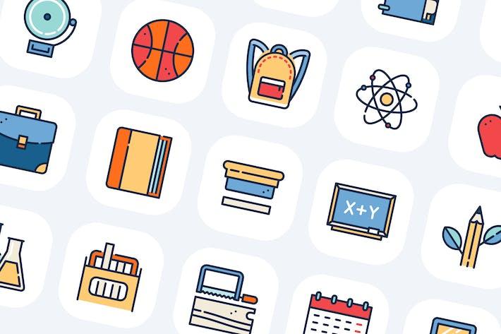 Thumbnail for 100 HighschoolSammlung Icons