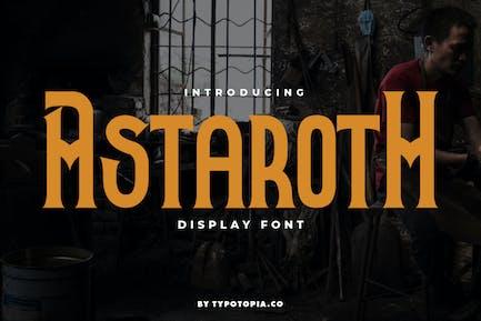 Astaroth Medieval Display Font