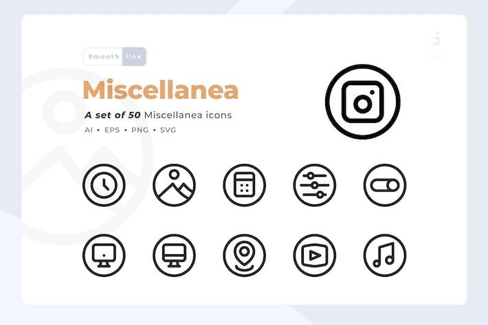 Cover Image For Smoothline - 50 Miscellanea icon set