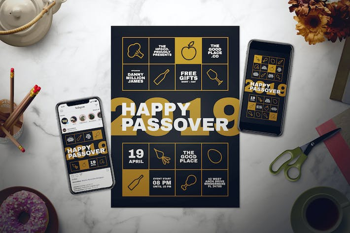 Thumbnail for Happy Passover Flyer Set