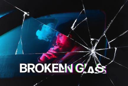 Broken Glass Photoshop Effect