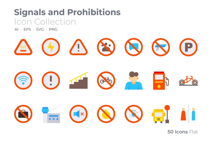 Signals and Prohibitions Color Icon