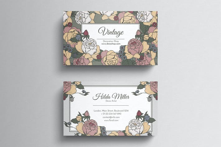 Thumbnail for Vintage style business card