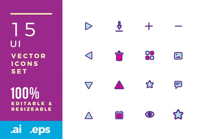 Thumbnail for 15 User Interface vector icons