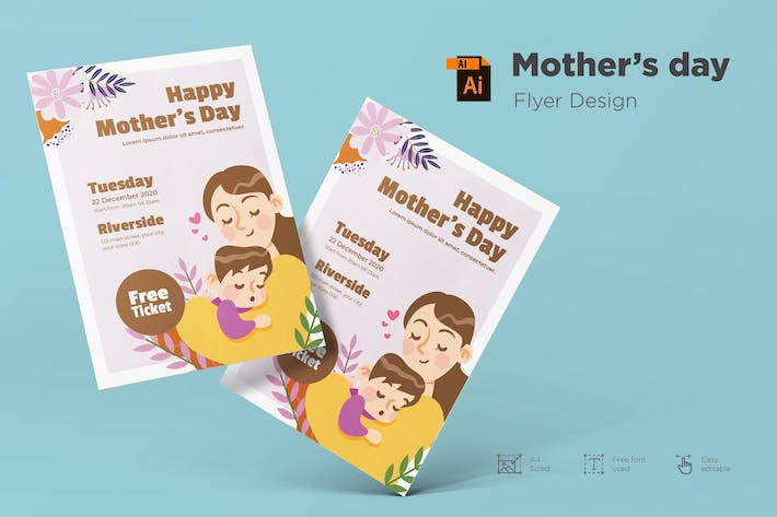 Thumbnail for Mother's Day Flyer Design Vol.01