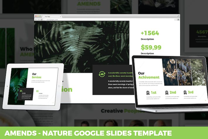 Thumbnail for Amends - Nature Google Slides Template