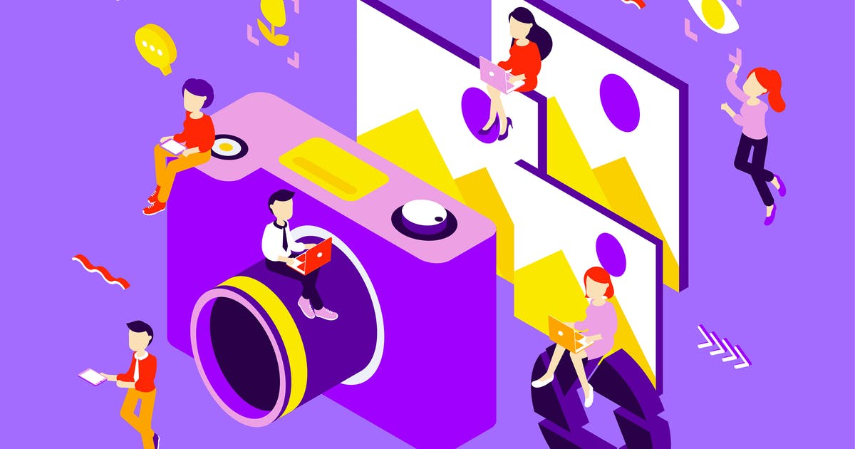 Download Photography Isometric Illustration by angelbi88