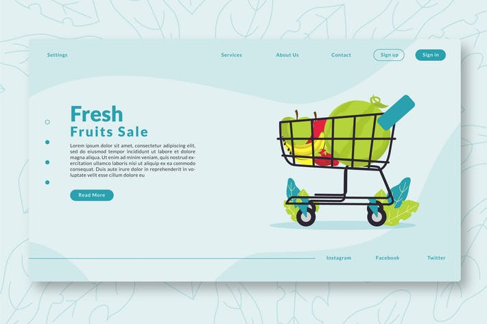 Thumbnail for Fresh Fruit Sale - Web Header & Landing Page GR