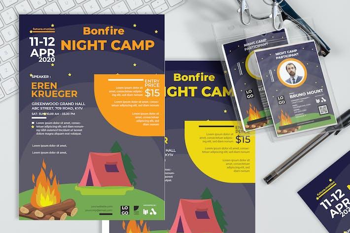 Thumbnail for Bonfire Night Camp - Poster and Seminar Invitation