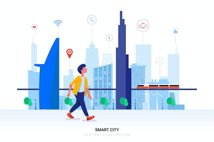 Thumbnail for Smart City Vector Illustration