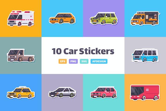 Thumbnail for Cartoon Car Stickers