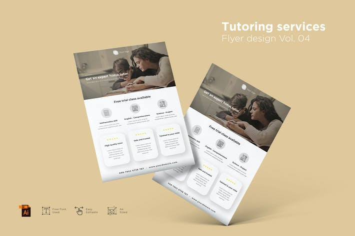 Tutoring Services Flyer Design Vol. 04
