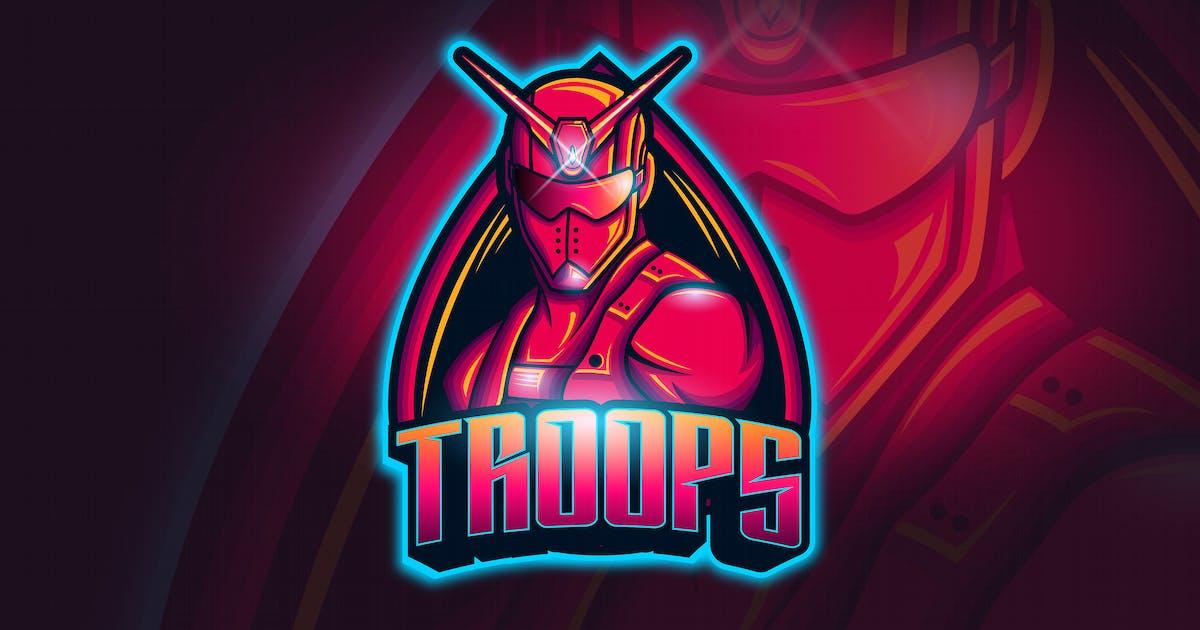 Download Troops - Mascot & Esport Logo by aqrstudio