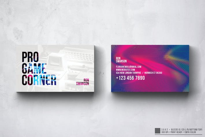 Thumbnail for Pro Game Corner Business Card Design