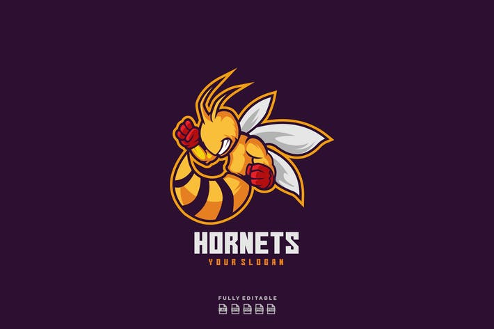 Hornet Bee Wasp Sports and E-sports Logo