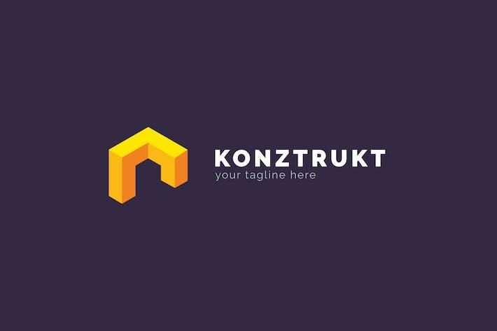 Thumbnail for Konztrukt - Architecture Logo Template