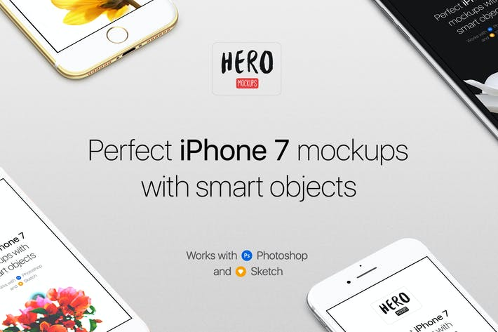 Cover Image For HERO Phone 7 Mockups