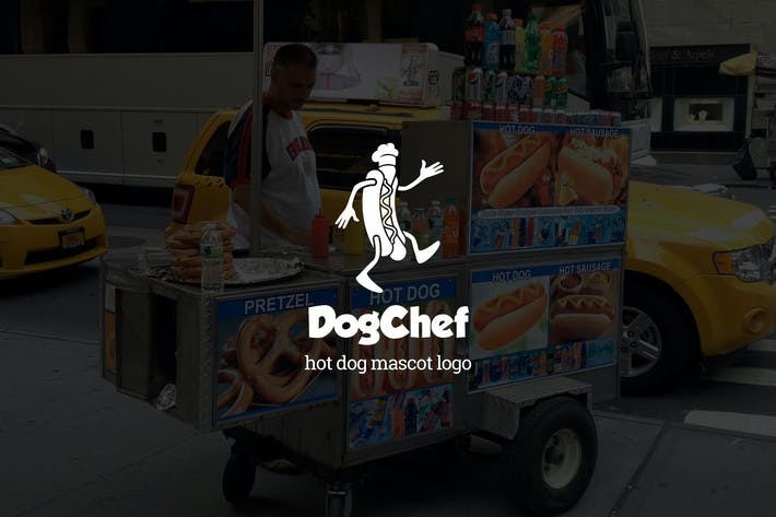 Thumbnail for Dogchef : Hot Dog Mascot Logo