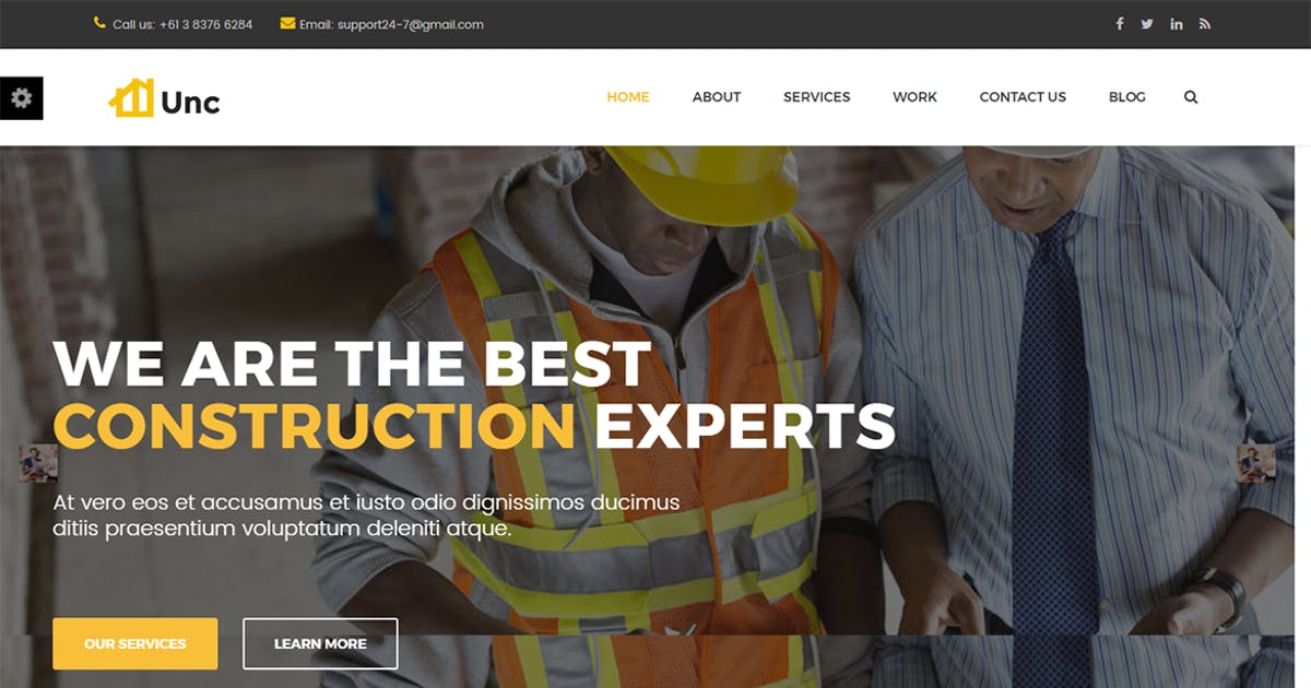 Download Unc Construction - Construction Business, Building by themesflat