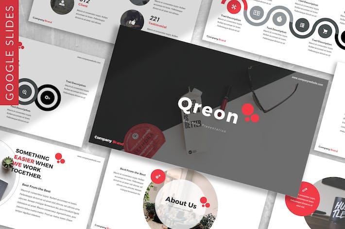Thumbnail for Qreon - Бизнес Google Слайды Шаблон