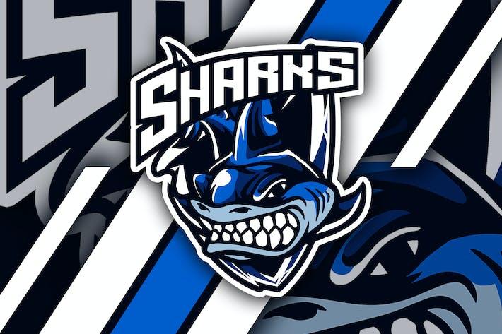 Thumbnail for sharks - Mascot & Logo Esport