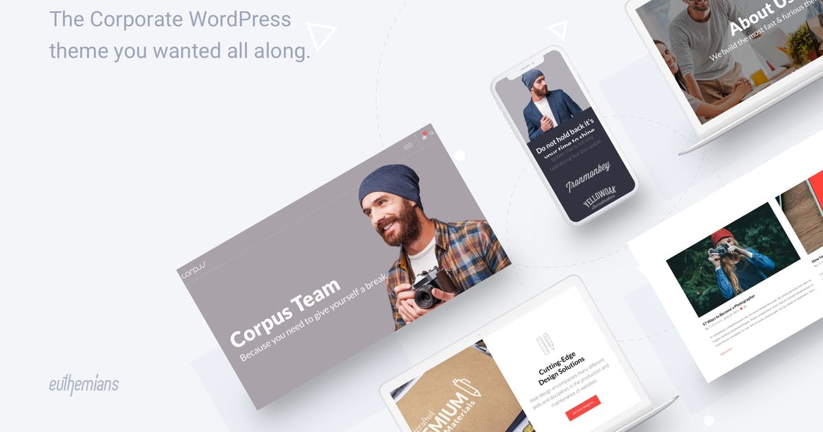 Download Corpus - Responsive Corporate WordPress Theme by Euthemians