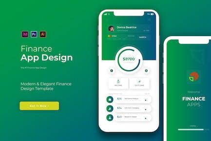 Gradinate Finance | App Design Template