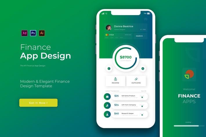 Gradinate Finance | App Design Template